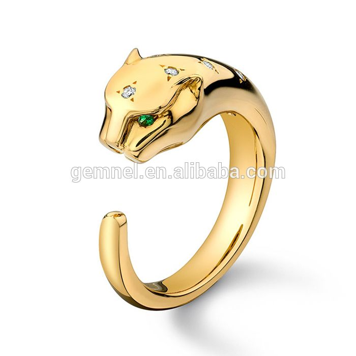 Panther platinum ring price in india 4 gram gold ring cz diamond ring