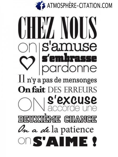 188 best A imprimer images on Pinterest Bazaars, Positive attitude - stickers dans cette maison