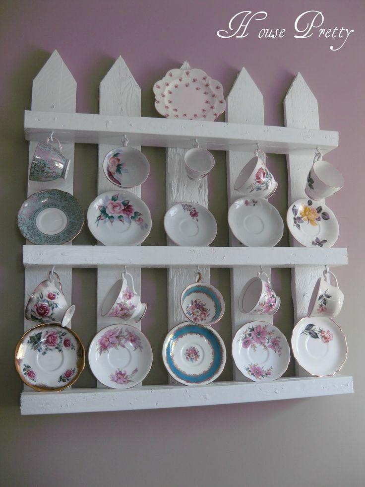 http://housepretty.blogspot.ca/2012/04/my-white-picket-fence-pallet-shelf.html