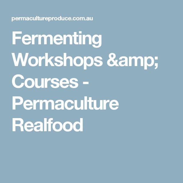 Fermenting Workshops & Courses - Permaculture Realfood