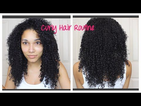 Curly Hair Routine March 2015 - YouTube