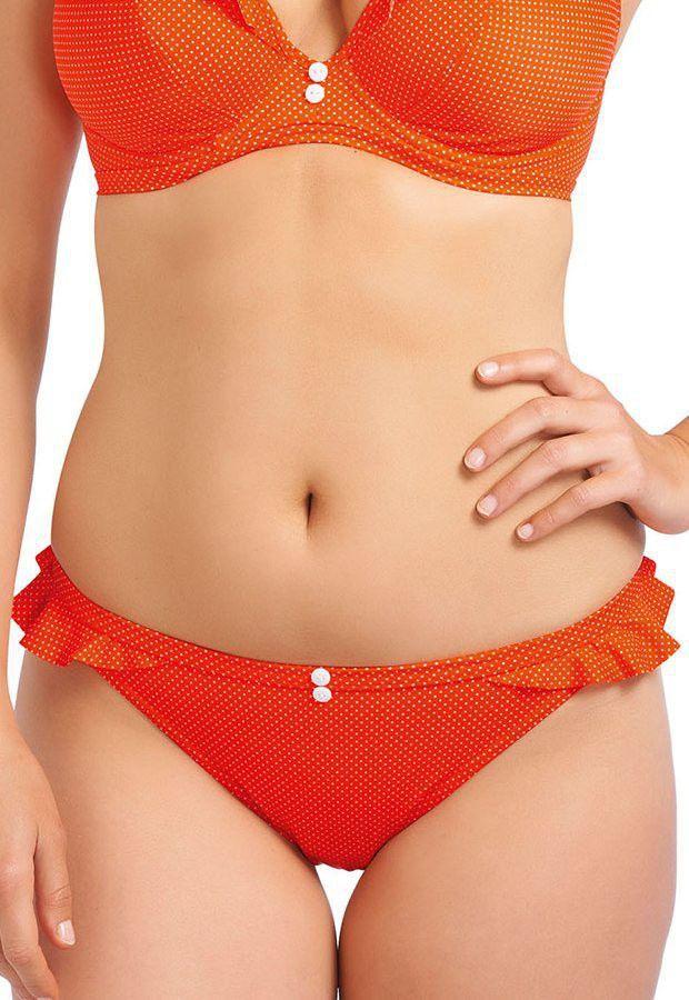 Cherish Orange halter bikini by Freya, soft and wired, available in Mambra / Dwuczęściowy kostium Cherish Orange marki Freya wiązany na szyi, z miękkimi miseczkami na fiszbinach, dostępny w Mambra.