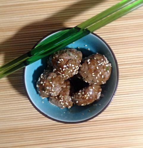 Bolitas Asiáticas de Quinoa y Pavo, condimentadas a la perfección. www.lavidaesdulce.net