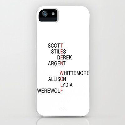 Teen Wolf  iPhone & iPod Case by Dan Lebrun