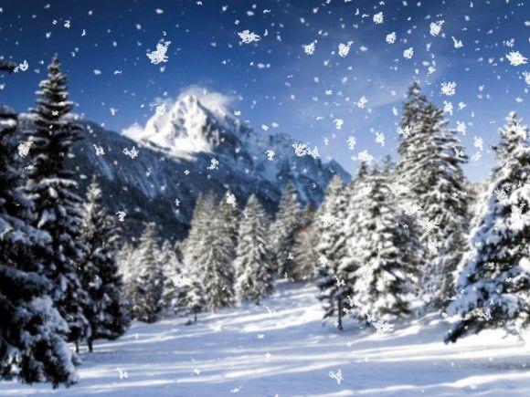 Téli kép - hull a pelyhes, fehér hó