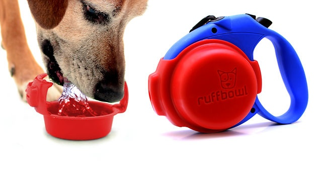 RuffBowl by Sammy Lopez. Ruff Bowl is the convenient way to have a travel water bowl while at the same time having a hands-free way of carrying your dog's used poop bags. $8