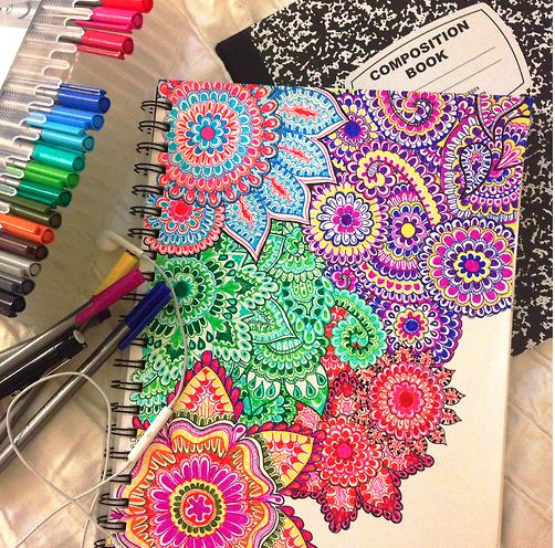 cute way to spice up your plain notebook