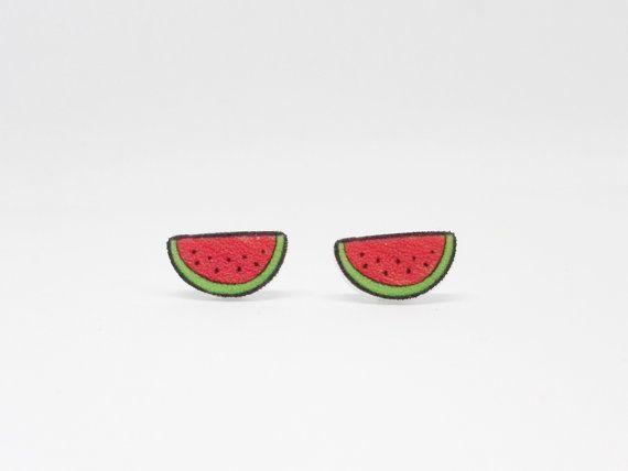 Wassermelone Ohrringe Ohrringe Obst von RoyalTurtleDesigns auf Etsy