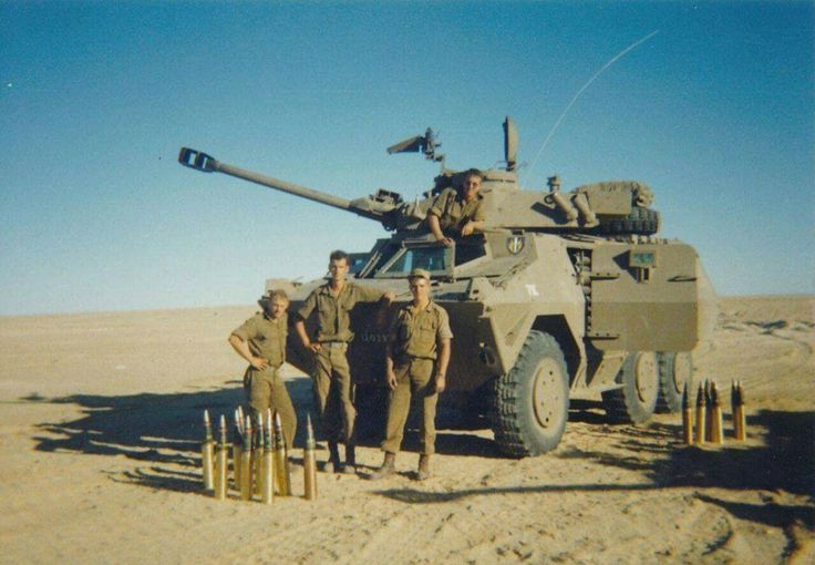 Infantry fighting vehicles Ratel 90, 61st mechanized battalion of the defence forces of South Africa.