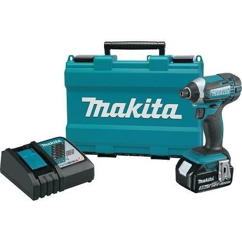 Cordless Impact Driver 18V Compact Ergonomic Ion Kit Lithium New Speed Variable #Makita