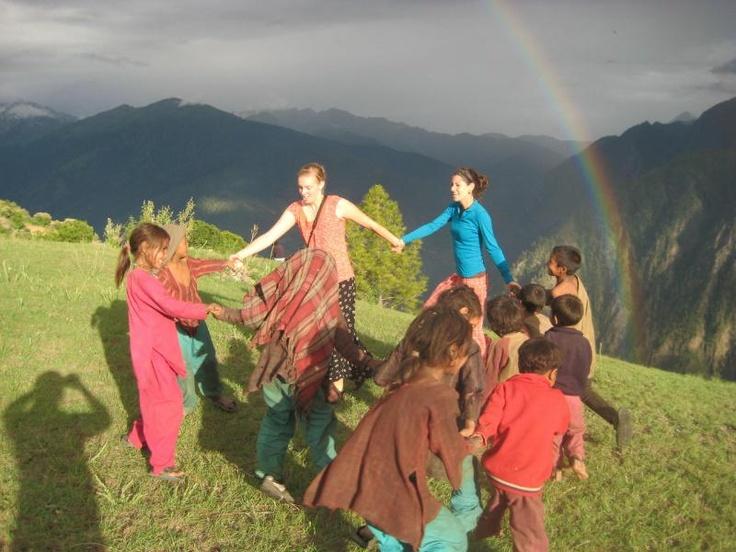 Rainbows, dancing, and the Himalayas!