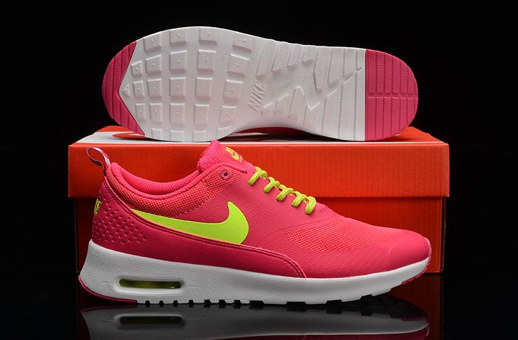 Femme Nike air max thea vert/rose/blanc