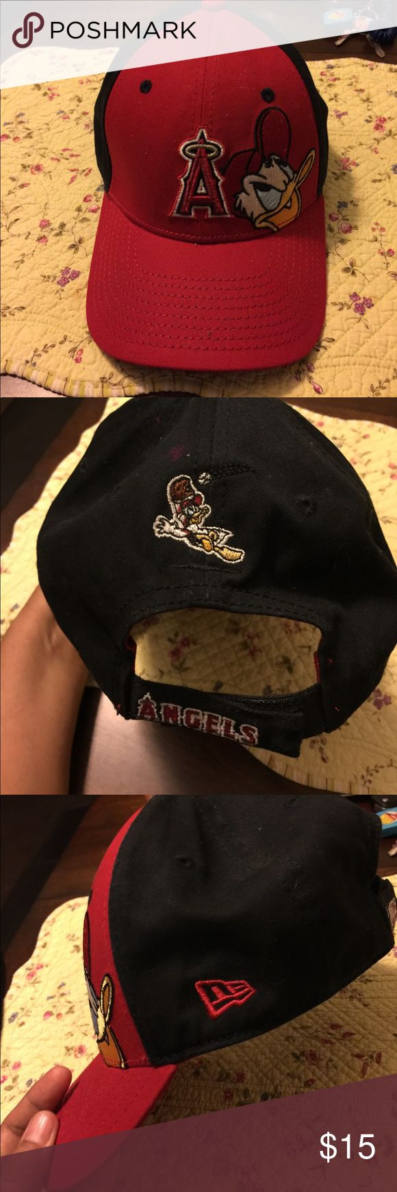 New Era Disney Anaheim Angeles Donald Duck Cap Great hat! Velcro back. Embroidered. From 2010 New Era Accessories Hats