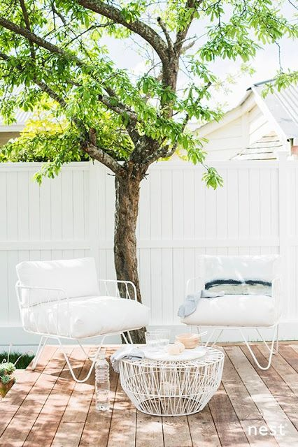 Bright white patio furniture #modern
