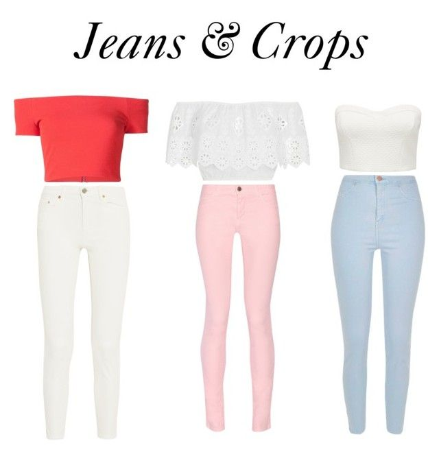 """Jeans & Crops"" by polyvorestar10 on Polyvore featuring Miguelina, Maison Kitsuné, River Island, Acne Studios, Forever New and Alice + Olivia"