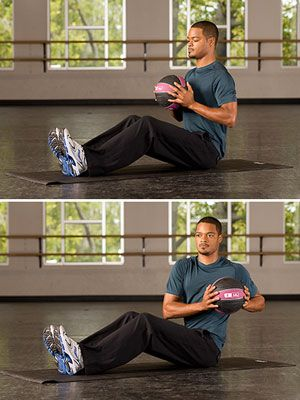 Give your regular weights a day off. Medicine balls are a fun alternative and if you use one without handles, you have to work a little harder to grip it, which leads to even more toning, says Pete McCall, a personal trainer and exercise physiologist for the American Council on Exercise. Get started with a 4- to 6-pound ball and these simple moves three times a week.