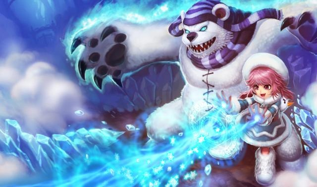 League of Legends Frostfire Annie Chinese Art