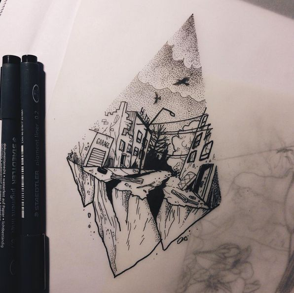 24 best images about mountain on pinterest ruins photos for Gothic city tattoos