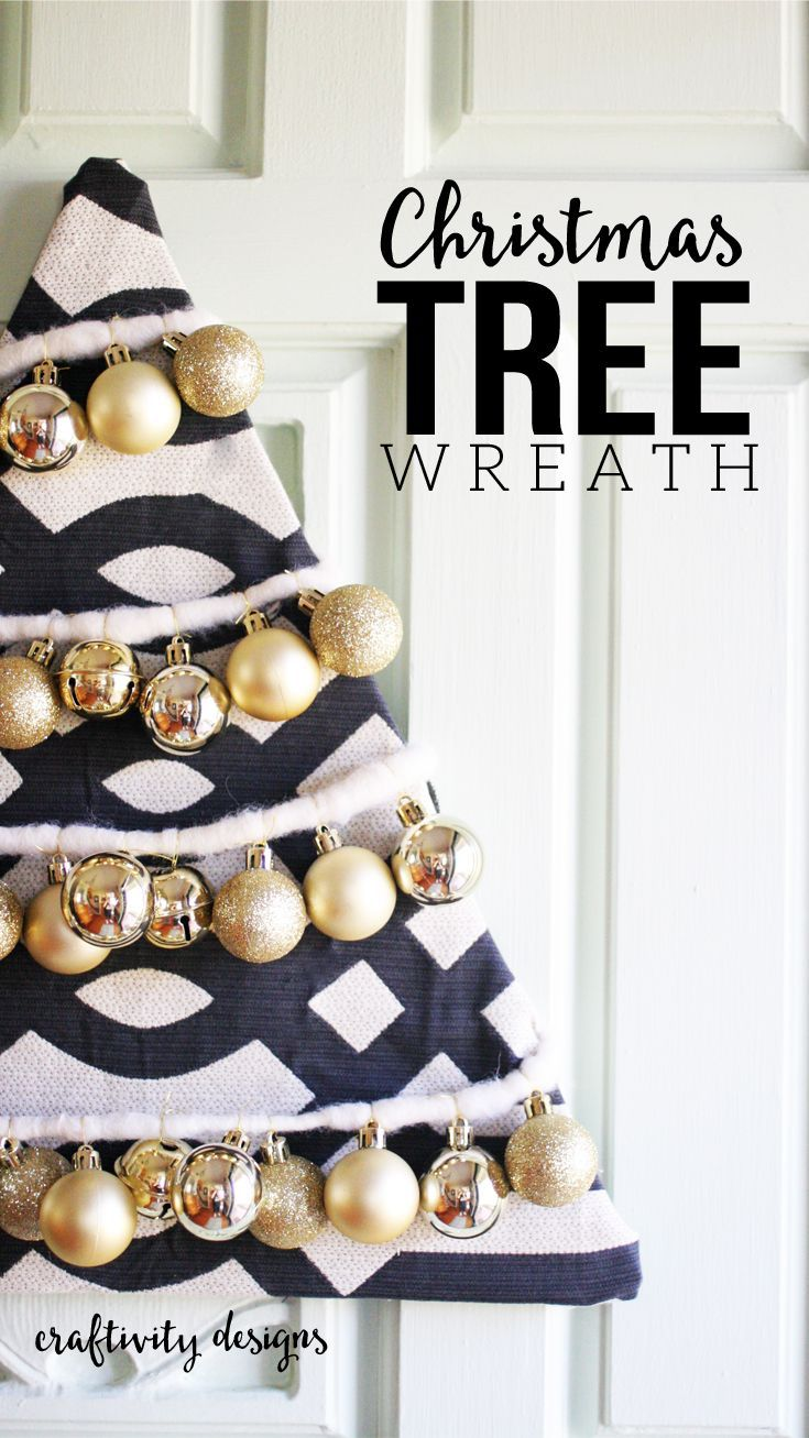 Non traditional christmas tree ideas - Diy Christmas Tree Wreath Non Traditional Christmas Wreath Idea Ornament Wreath By