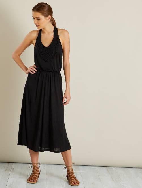 ab85c198d51b22 Robe de plage détails macramé  JDY  Femme - noir à 17