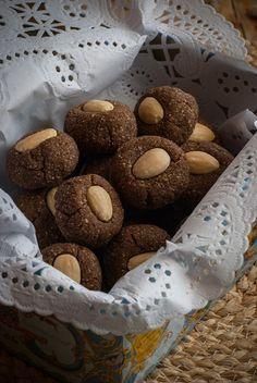 galletas de harina de algarroba y almendra