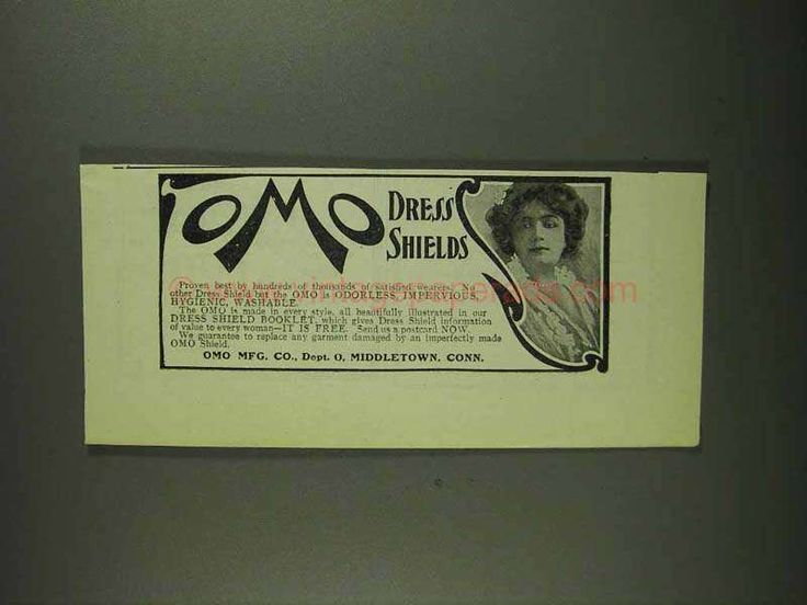 1907 Omo Dress Shields Ad