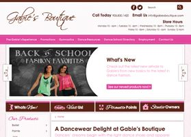 Gabies Boutique - Website design and development - Treefrog is your web design, graphic design and web development agency. To see more of our work visit www.treefrog.ca
