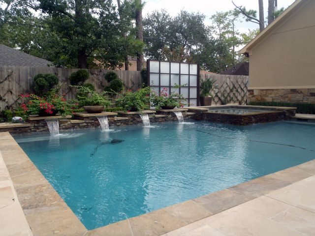 30 best fire images on pinterest outdoor living - Swimming pool builders houston tx ...