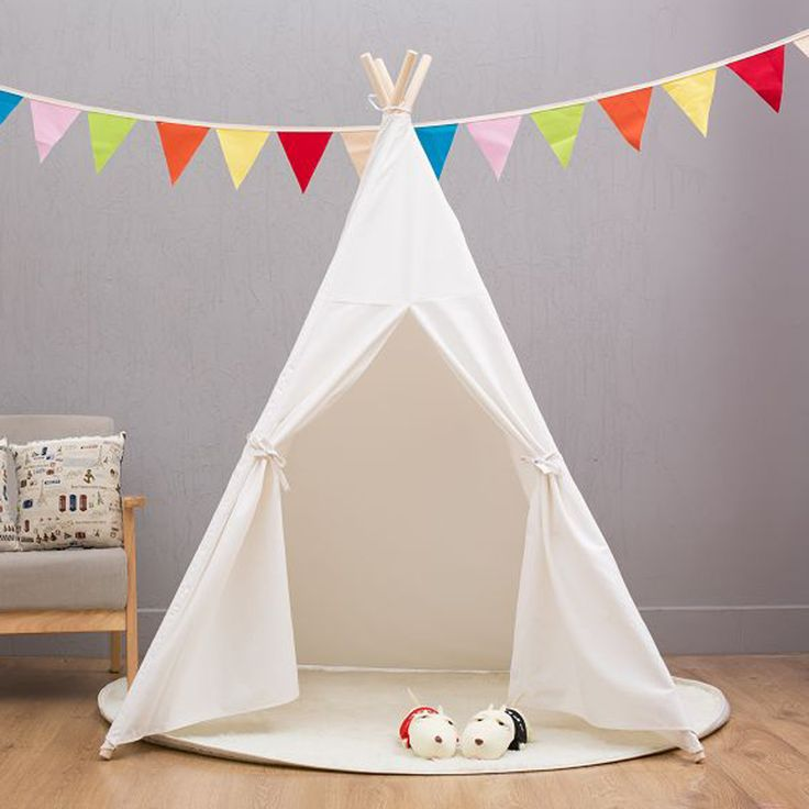 Cheap house for, Buy Quality house play directly from China house for kids Suppliers: Four Poles Indian Play Tent Cartoon Children Teepees Kids Tipi Tent Cotton Canvas Teepee White Play House for Baby Room