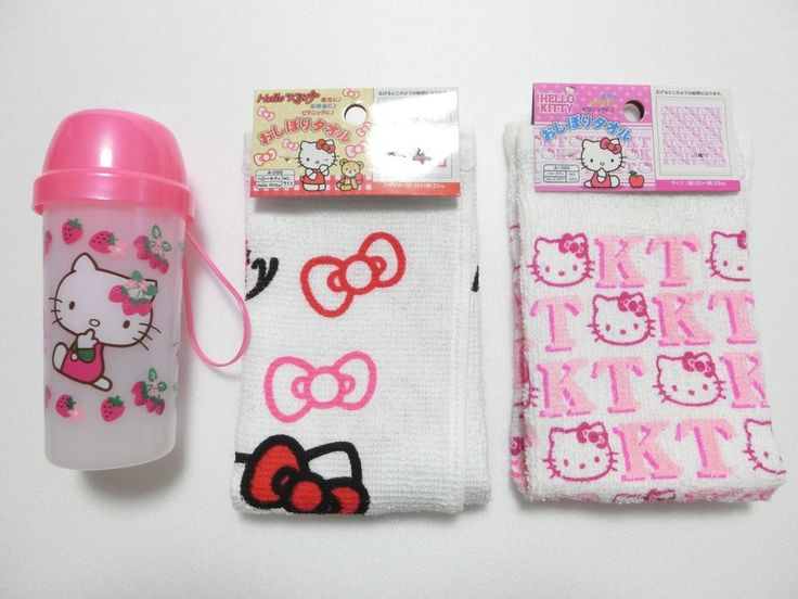 Limited Daiso Japan Hello Kitty Moist Hand Towel Case And 2 Hand Towels Set Daiso Hello Kitty Kitchen Hand Towel Sets