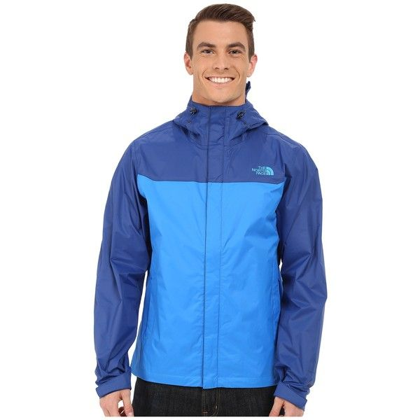 The North Face Venture Jacket (Bomber Blue/Limoges Blue) Men's Jacket ($99) ❤ liked on Polyvore featuring men's fashion, men's clothing, men's outerwear, men's jackets, mens lightweight bomber jacket, mens blue jacket, mens sherpa lined jacket, mens waterproof jacket and mens lightweight jacket