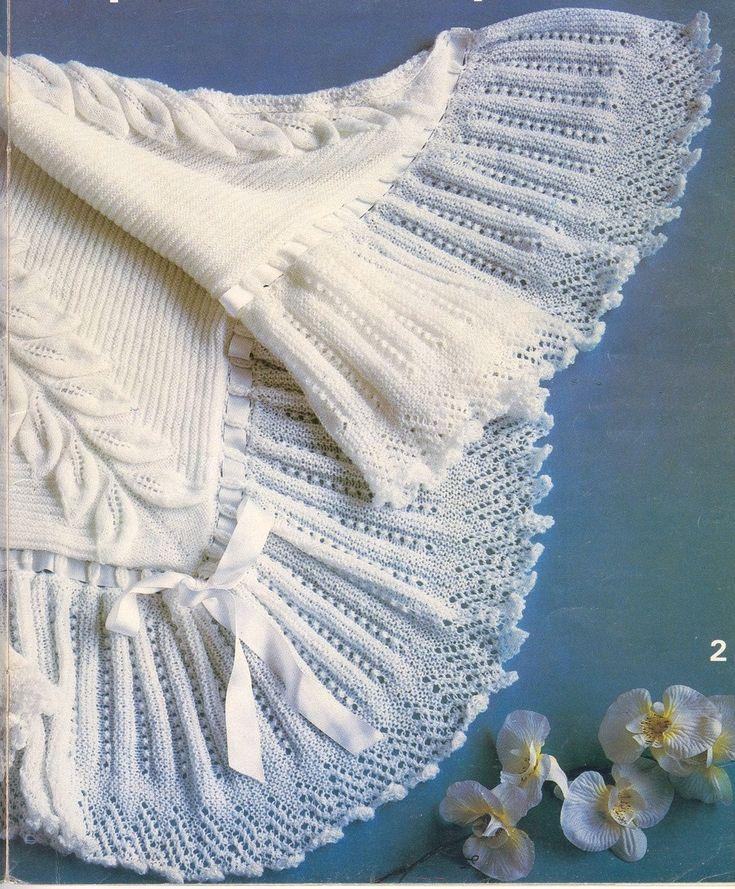 Baby Knitting PATTERN Beautiful Baby Bebe Heirloom by carolrosa