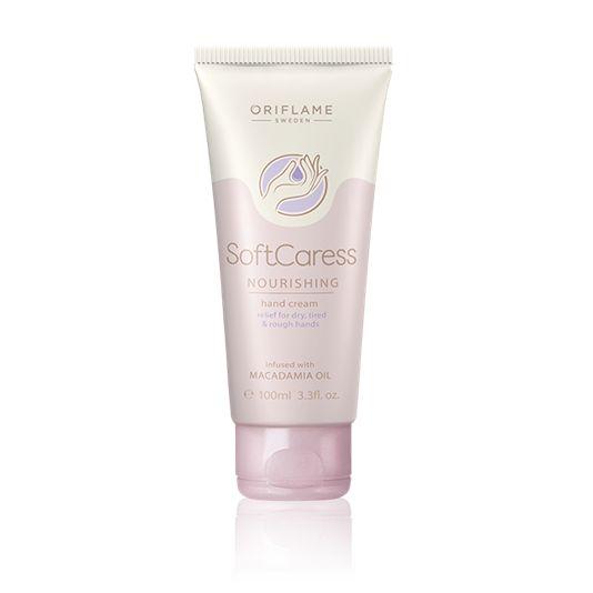 Crema de Manos Nutritiva SoftCaress (Cod. 31345) Crema no grasa de rápida absorción que hidrata las manos secas en profundidad. Formulada con aceite de Nuez de Macadamia que nutre, revitaliza la piel y suaviza las asperezas.