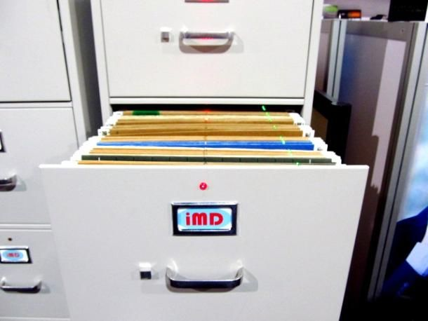 Archive it old-school with wired, LED-lit filing cabinet #CES