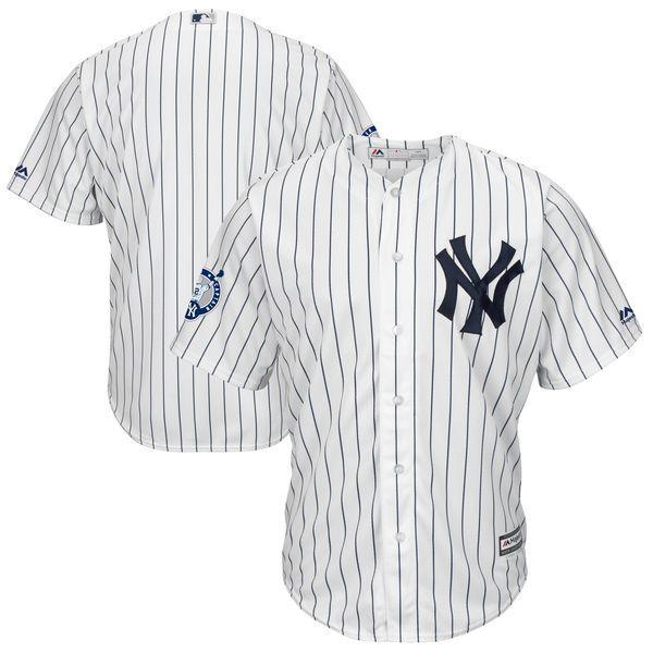 Derek Jeter New York Yankees Majestic Retirement Patch Cool Base Jersey - White - $114.99