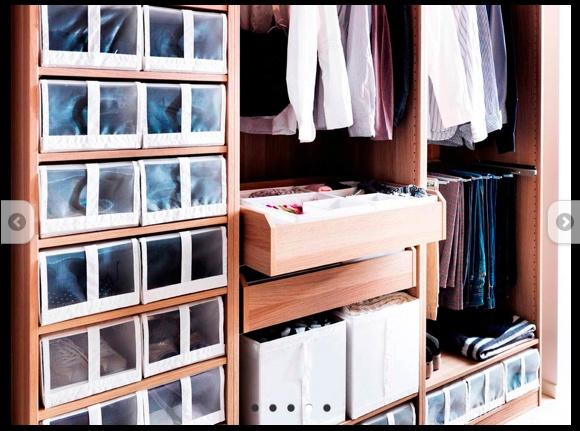 Ikea closet -- shoe storage