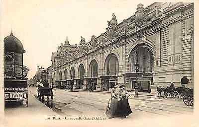 Gare d'Orsay ou Gare d'Orléans (Compagnie du Chemin de Fer d'Orléans) côté quai d'Orsay, aujourd'hui Quai Anatole France.