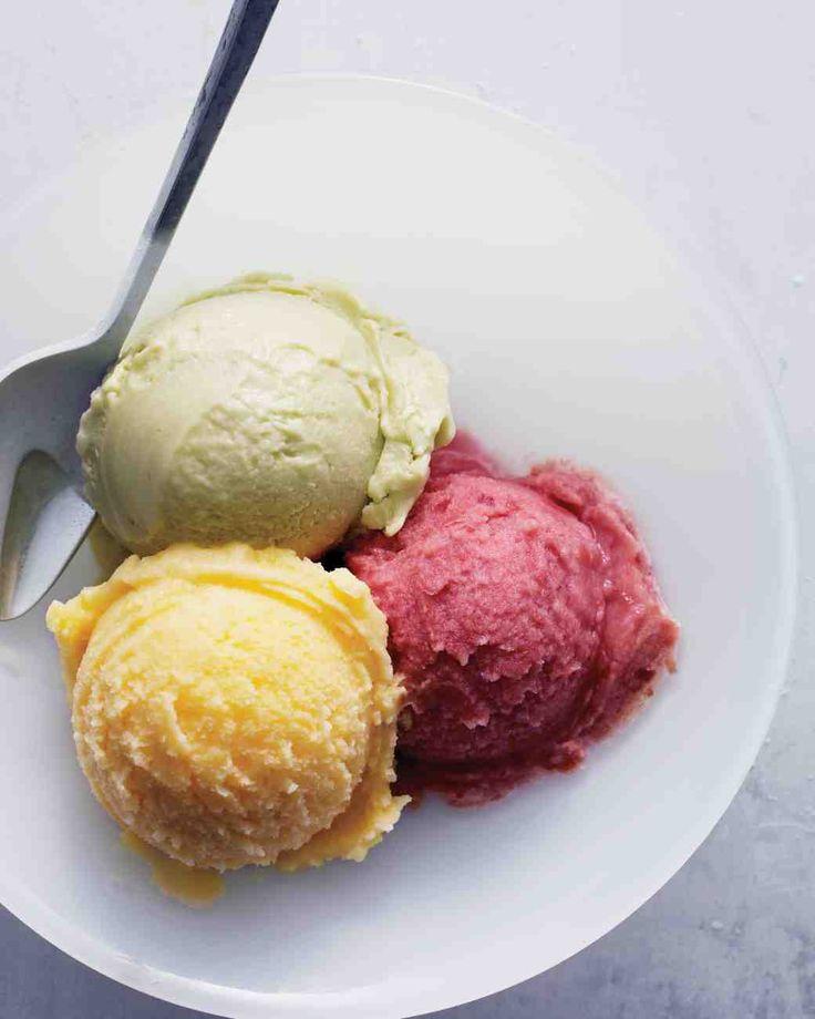 Sour-Cherry and Lemon-Verbena Sherbet