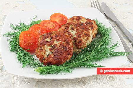The Recipe for Chicken Cutlets with Greens and Cheese   Meat Dishes   Genius cook - Healthy Nutrition, Tasty Food, Simple Recipes