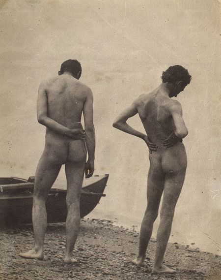 Thomas Eakins :: Selfportrait with John Laurie Wallace, 1883 / source This photograph was probably made during the summer of 1883 at Manasqua Inlet at Point Pleasant, New Jersey. Affecting the elegant contrapposto stances of classical sculpture,...