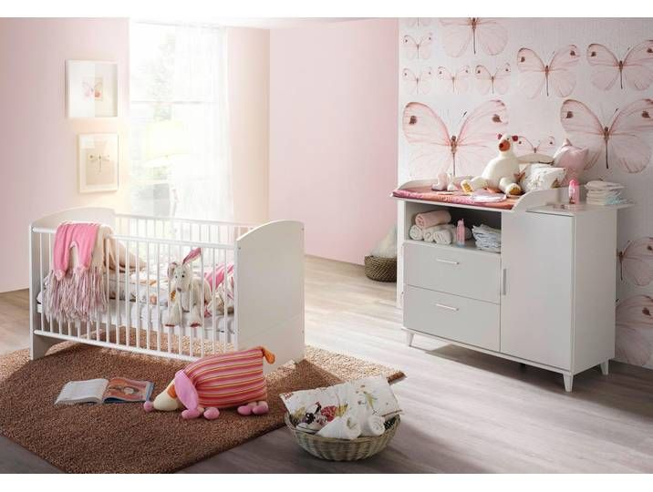 Babymobel Set Nizza 2 Tlg Bett Wickelkommode Neckermann
