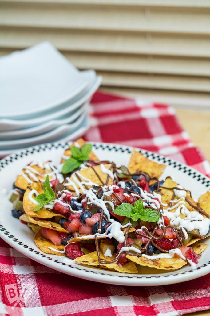 Dessert Nachos with Fresh Baked Cinnamon Tortilla Chips | Recipe ...