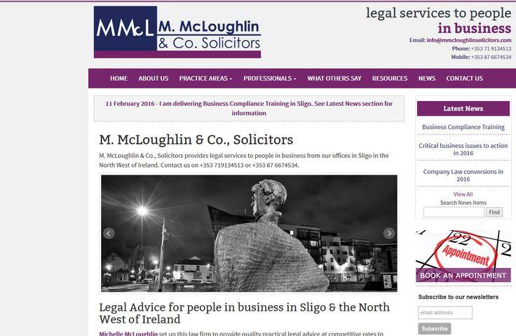 http://mmcloughlinsolicitors.com/ legal website for Michelle McLoughlin Solicitors in Sligo, designed and built by Sligo web designers, Format.ie