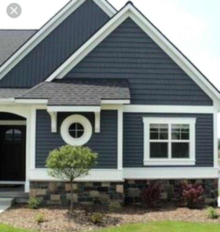 Cedar Siding And Slate Color Palette House Paint