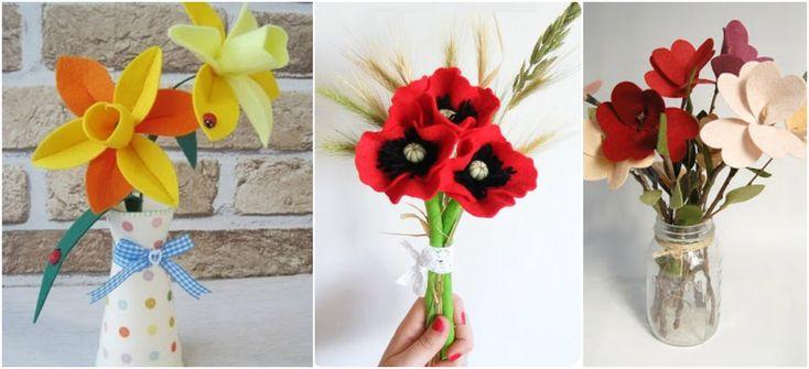 Más Patrones De Flores Y Hojas Para Fieltro: Más De 25 Ideas Increíbles Sobre Flores De Fieltro En