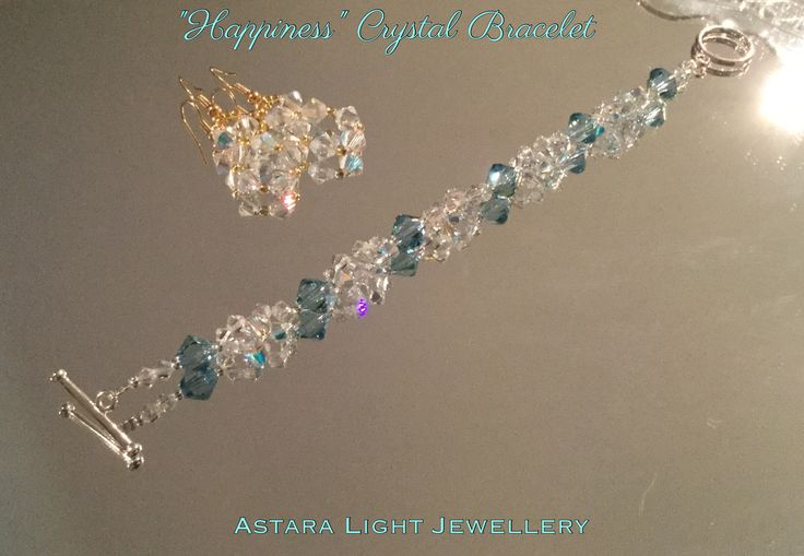 """""""Happiness"""" Crystal Bracelet from the Marie Antoinette a Collection 👑 ✨ is made from sparkling Swarovski Aquamarine crystals. Designed by Astara $52.00AU"""