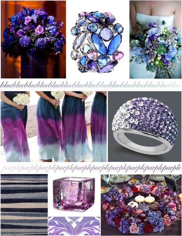 Beautiful Blooms - Blues Purples