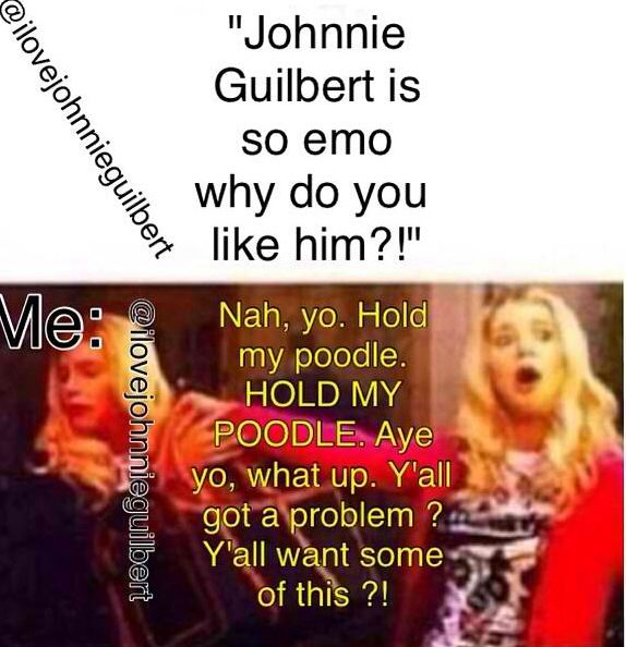 Aw no... AWWWW NOOOO! Johnnie Guilbert happens to be one of my favorite youtubers ever