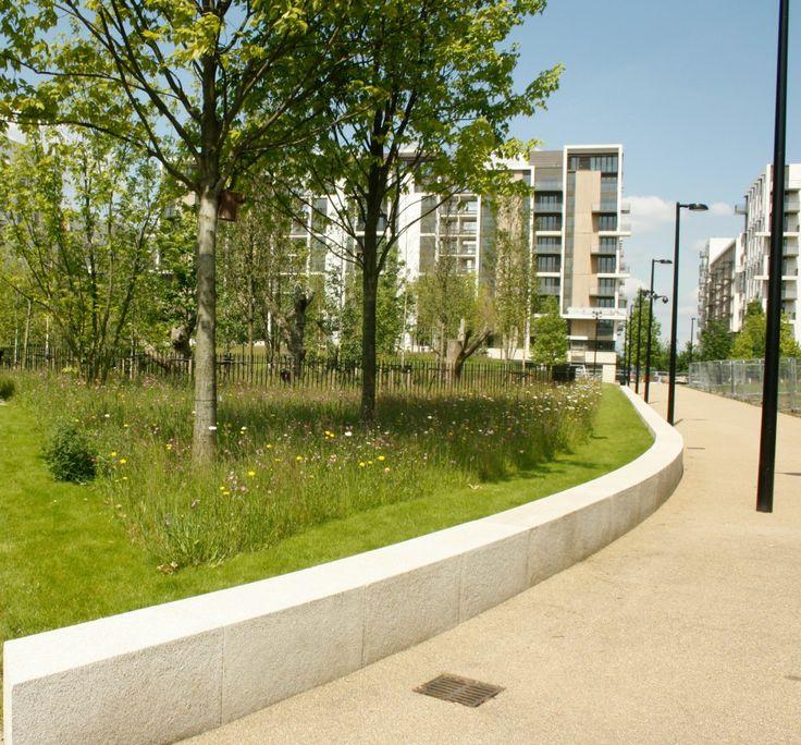 Olympic Village - using Wildflower Turf's Landscape Turf with 34 native wildflower varieties