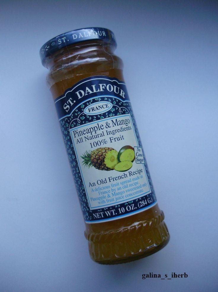 St. Dalfour, Джем из ананаса и манго http://galina-s-iherb.livejournal.com/30097.html http://ru.iherb.com/St-Dalfour-Pineapple-Mango-Fruit-Spread-10-oz-284-g/27308?rcode=KBJ369